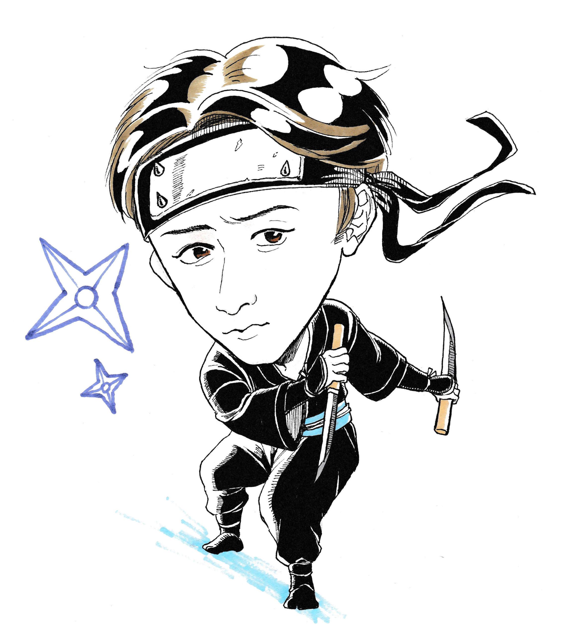 2月22日は忍者の日!忍者似顔絵大会開催!!
